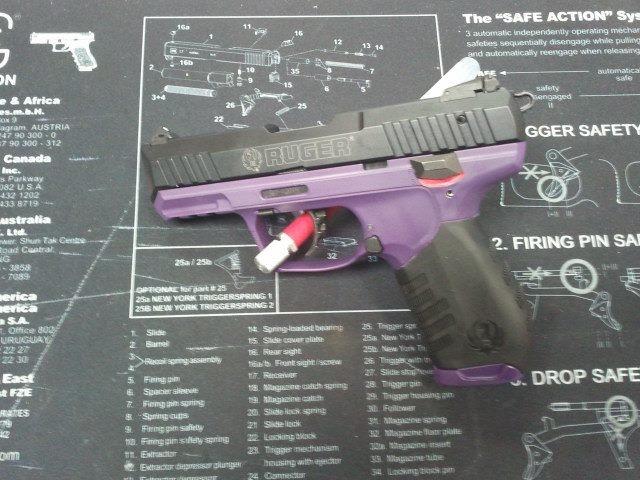For Sale: Daily Deal - Ruger SR22 22lr Handgun-rugersr22-singlecoatframeonly-goddesspurple.jpg