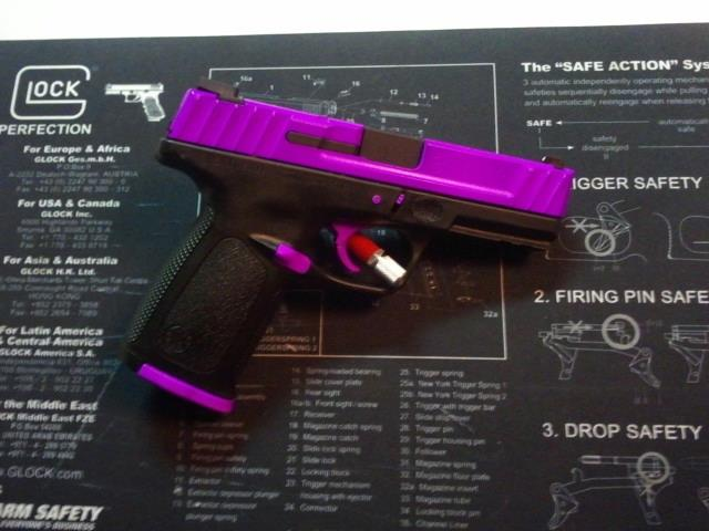 For Sale: Daily Deal - S&W SD9 VE Pistol-Hot purple and hot pink zebra pics!-s-wsd9-contrast-hotpurple.jpg
