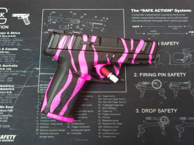For Sale: Daily Deal - S&W SD9 VE Pistol-Hot purple and hot pink zebra pics!-s-wsd9-zebra-hotpink-matteblack.jpg