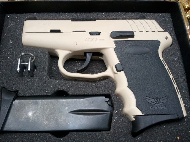 For Sale: Hot Pink SCCY CPX-2, SS SCCY CPX-2, and Tactical Dessert Beige SCCY CPX-2-sccycpx2-singlecoatwholefirearm-tacticaldesertbeige.jpg