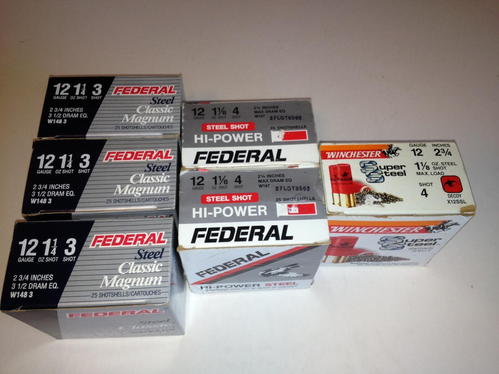 WTS/WTT 6 Boxes 12 Gauge Steel Shot Magnum #3 & #4 .00 - Harrisonburg, VA Area-shells.jpg