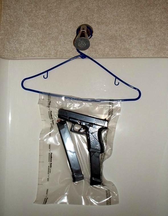 bad: naked man is pistol whipped takes gun away...-showerglock.jpg