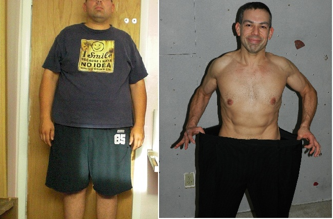 100 Pounds Lost, before and after pics-sidebysideshirtless.jpg
