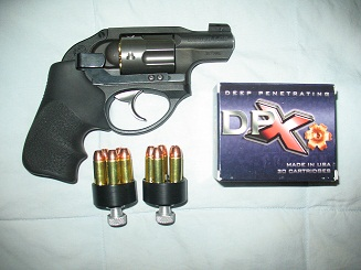Selecting a Handgun for Defense: Part 2. Revolvers-sm-hogdocs-ruger-lcr-.357-mag-clip-draw-andcarbon-.357-dpx-hks-speedloaders.jpg