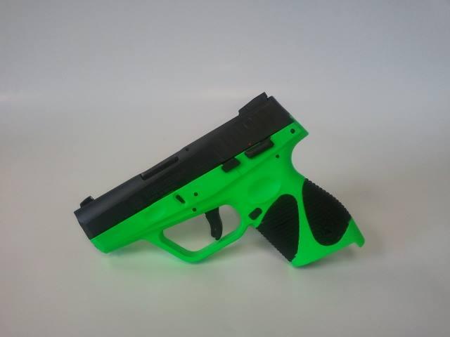 For Sale: Zombie Green Taurus 740FS Slim 40 Caliber Handgun-taurus740slimzombiegreenframe-40caliber.jpg