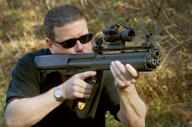 Best Home Defense Shotgun-author-demonstrates-improper-hand-placement-kel-tec-ksg-courtesy-david-kenik-.jpg