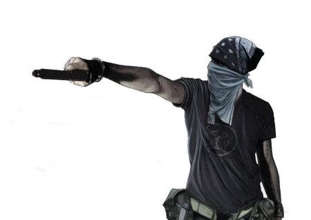 Plan for Live Action (Actors) Zombie Apocalypse Theme Park in Detrioit-thug_sideways_pistol_aim.jpg