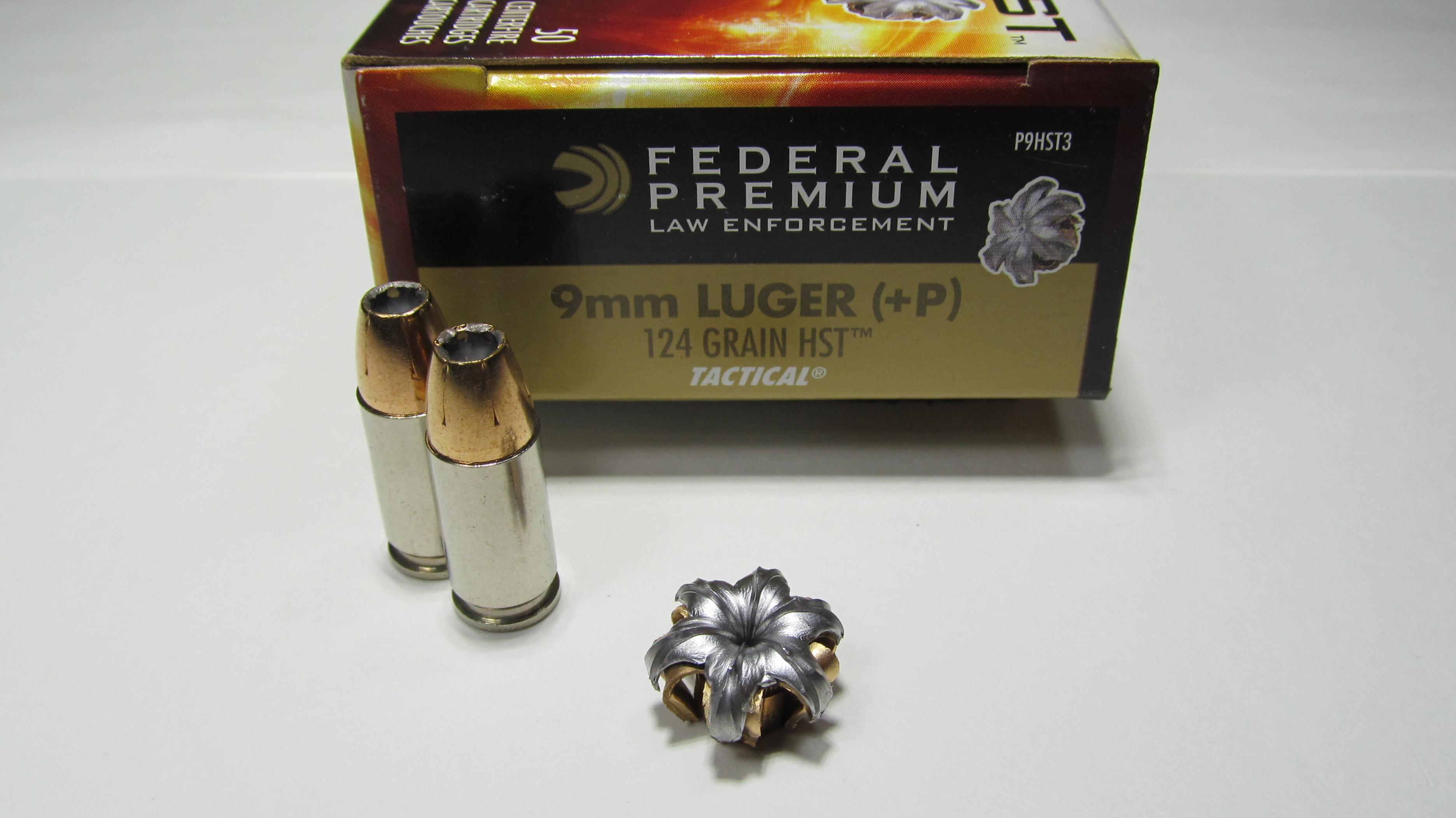 Clear Gel Test - Federal 9mm +P 124 Grain HST
