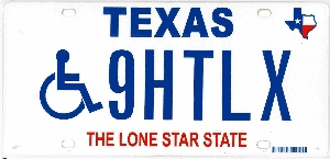 Handicap License Plates.... Do they make you more of a target???-tx-disabled-plate.jpg
