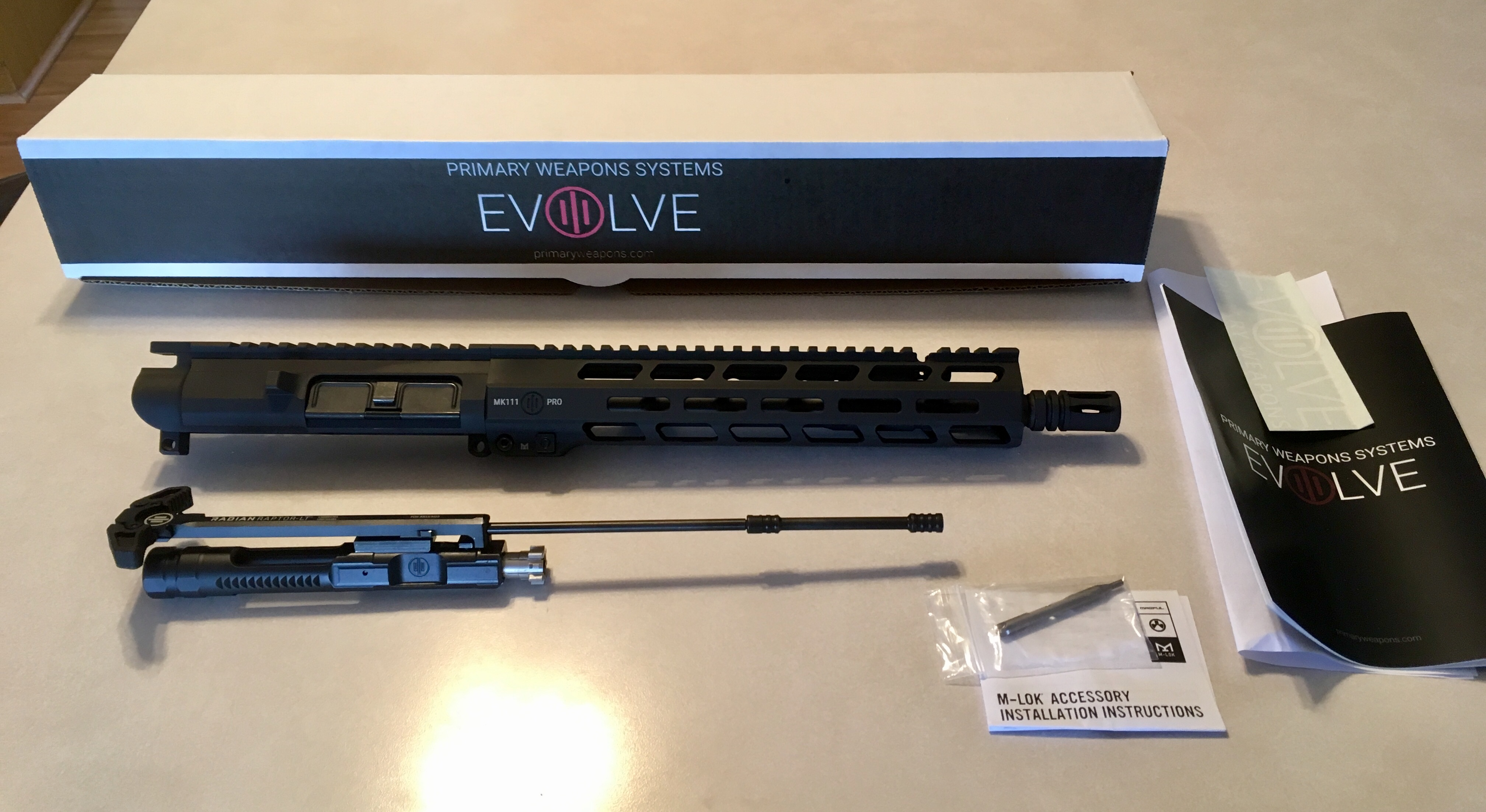 WTS: Brand New, PWS MK111 PRO Complete Adjustable Gas Piston Upper w/ QD Sling Mount-up1.jpg