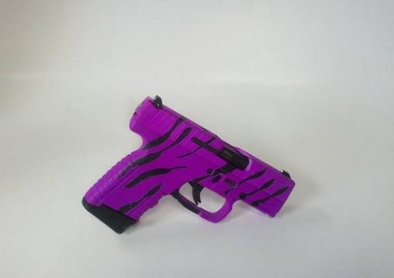 DuraCoat Work: Hot Purple Zebra Striped Walther PPS 40 Caliber Pistol-waltherpps40-wholefirearm-hotpurplezebra-40cal.jpg