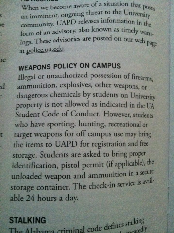 College orientation yesterday (transfer students) college ccw carry-weapons-policy.jpg