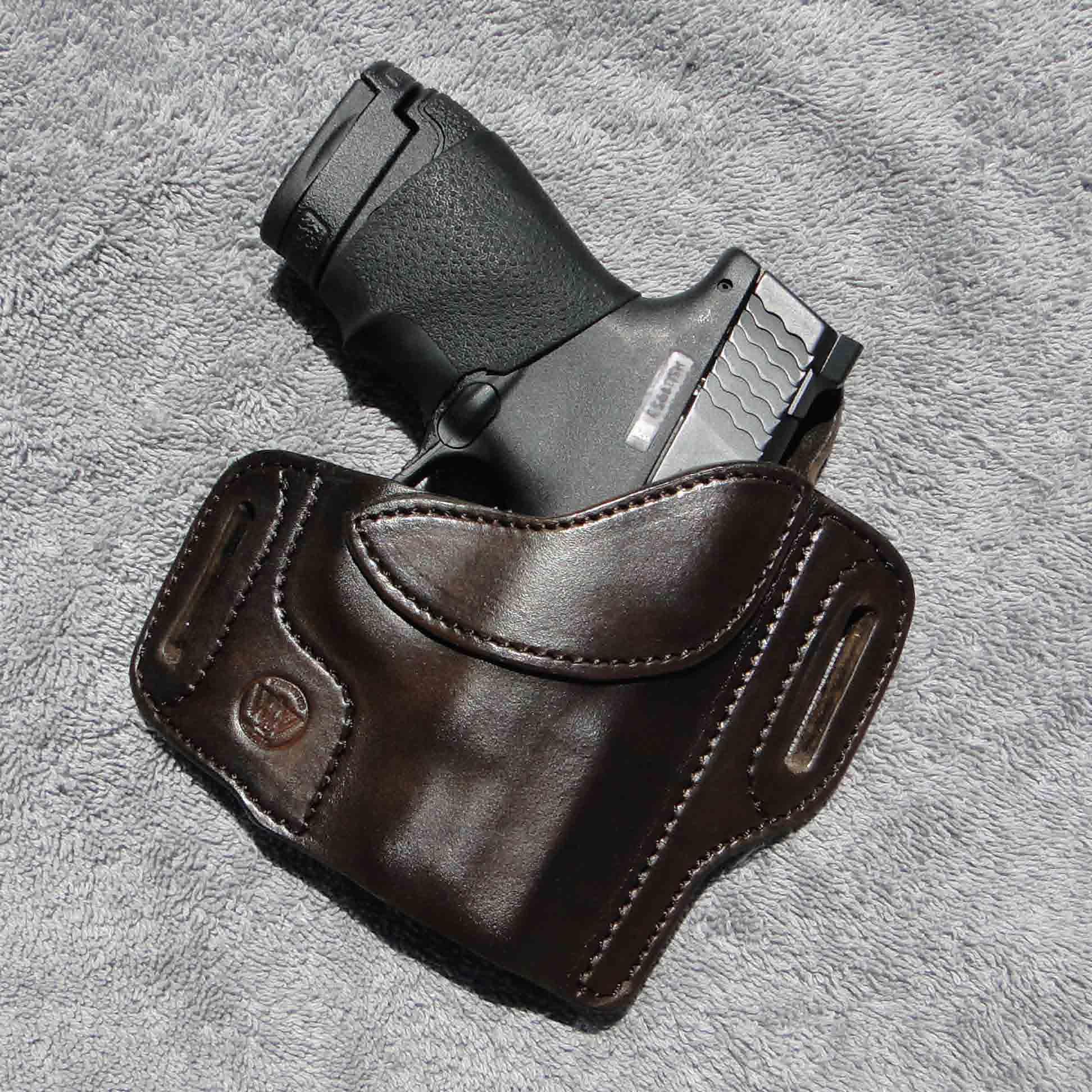 Glock 43 IWB/OWB dual-purpose holster