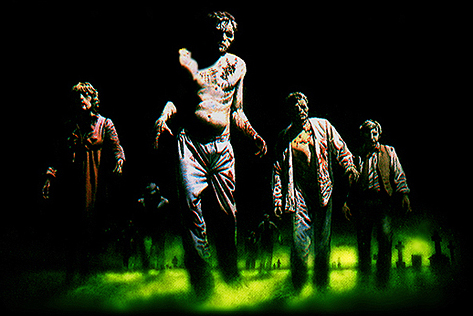 5 men kick in the door armed with shotguns-zombies.jpg